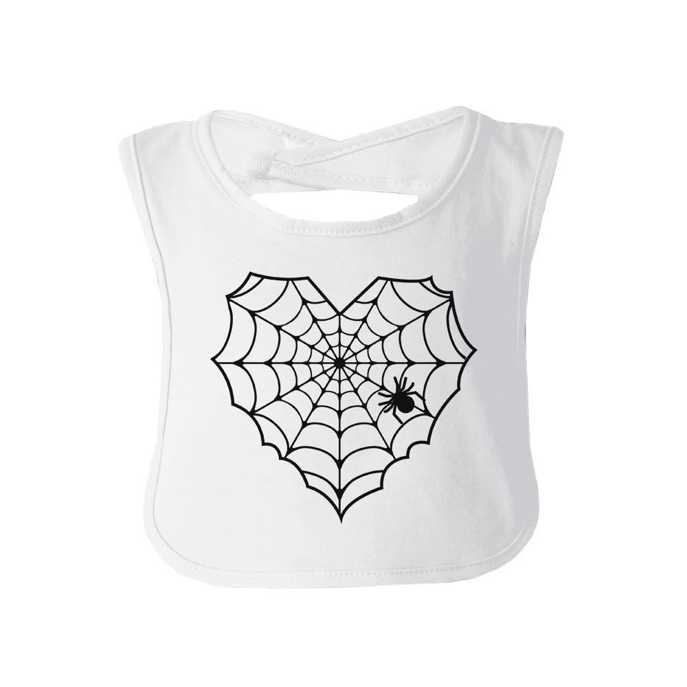 Primary image for Heart Spider Web Baby White Bib