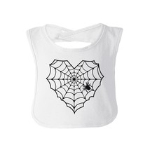 Heart Spider Web Baby White Bib - $9.99