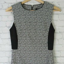 DKNY Dress Womens Size 2 Black White Faux Leather Trim Fit & Flare - $64.62