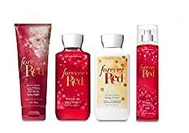 4 Pc Bath & Body Works Forever Red Set  Lotion, Mist, Shower Gel & Body Cream - $37.85