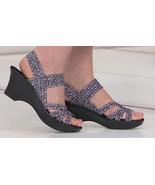 Steve Madden Torrist Woven Wedge Sandal, Blue/White, Size US 8.5 - $29.69