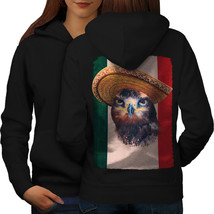 Eagle Bird Sombrero Sweatshirt Hoody Mexico Fun Women Hoodie Back - $21.99+