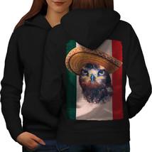 Eagle Bird Sombrero Sweatshirt Hoody Mexico Fun Women Hoodie Back - $21.99+