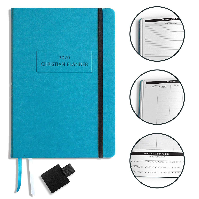 "Christian Planner 2020 Planner, Bible Journal, and Gratitude Journal | 7""x10"" La"