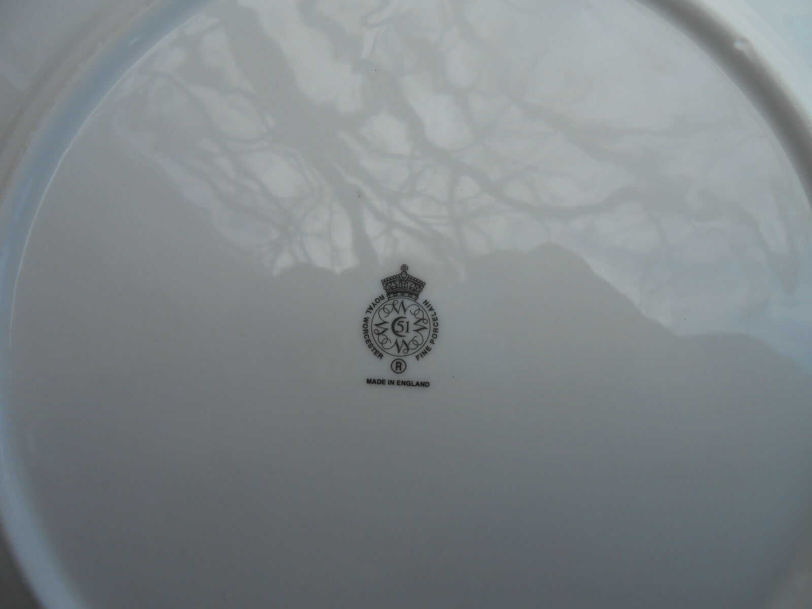 """ROYAL WORCESTER HERBS CHOP SERVICE PLATE PLATTER GREEN TRIM WILD THYME 12 1/8"""" image 3"""