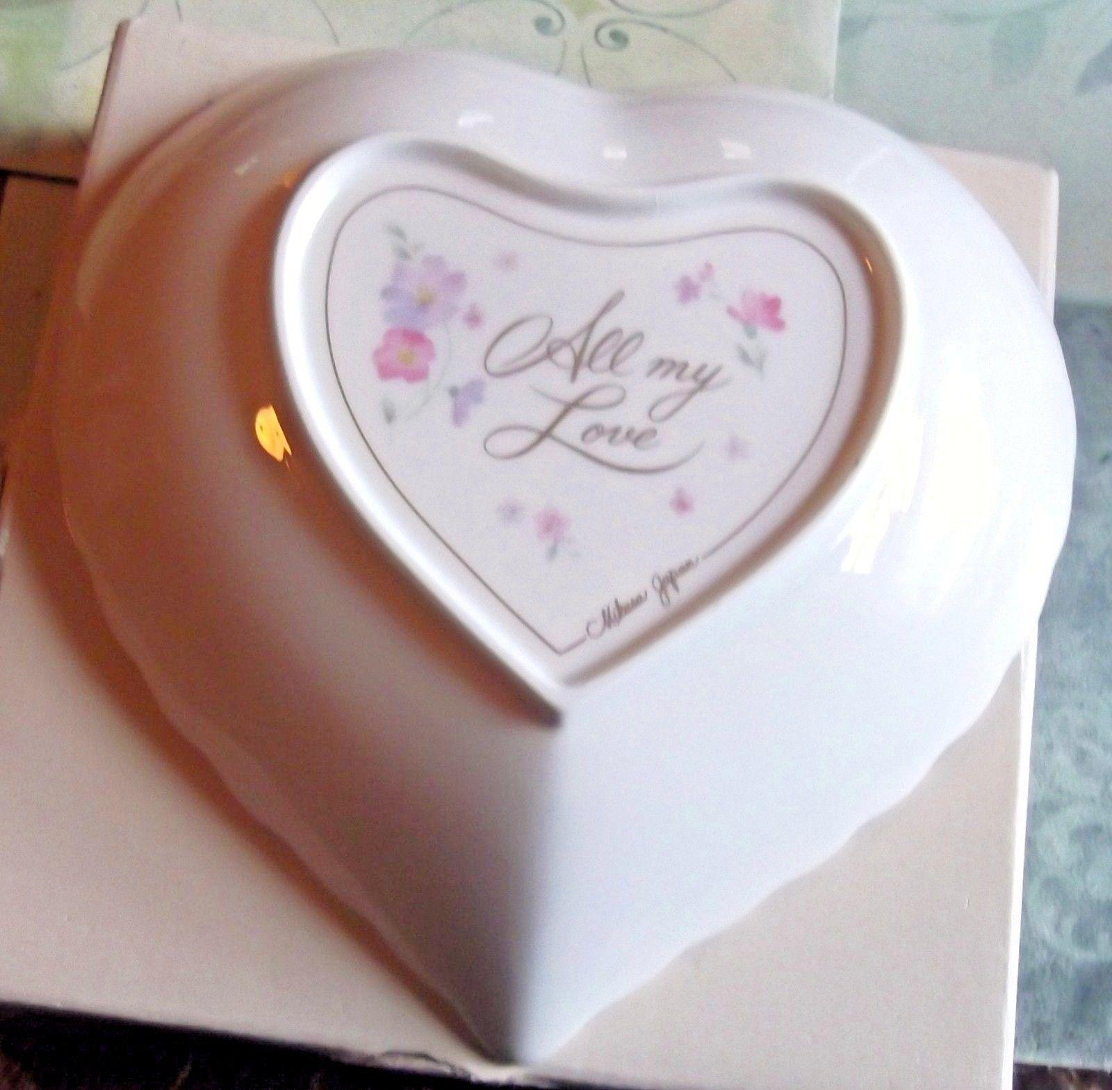 Mikasa Bone China Heart Shaped With All My Love Plate