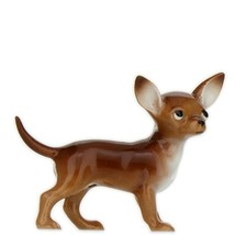 Hagen Renaker Dog Chihuahua Small Brown and White Ceramic Figurine