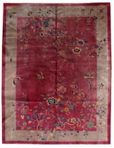 Hand made antique Art Deco Chinese rug 8.10' x 11.6' (273cm x 353cm) 192... - $9,600.00