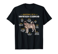 Anatomy Of A Norwegian Elkhound T-Shirts Dogs Lovers Gift - $15.99