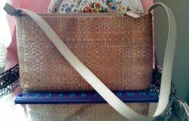 Fossil tan light brown marked genuine leather basket weave shoulder bag - $40.00
