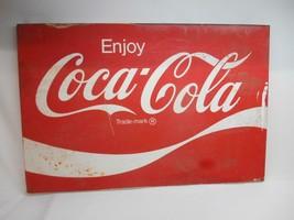 "Old Vtg COCA-COLA Coke Metal ADVERTISING SIGN 36"" x 24"" Soda Pop Retail ... - $395.99"