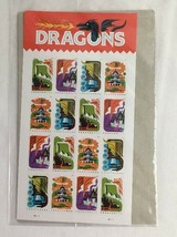 Dragons Stamps Sheet 16 Forever Stamps USA 2018 - $19.00