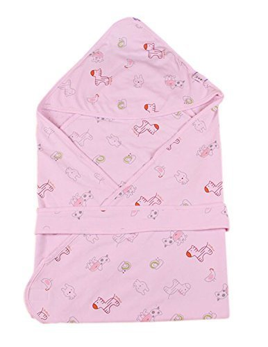 Lovely Cartoon Series Soft Baby Hooded Bath Towel, Pink (100100CM)