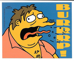 The Simpsons TV Series Drunk Barney Burrrp! Vinyl Sticker Decal 2001 NEW... - $5.90