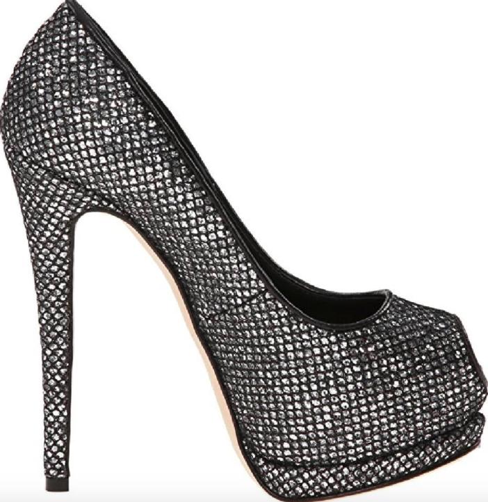 07a0ba325f New Giuseppe Zanotti Sharon Theron Argento Peep Toe Heels EU 38.5 US 7.5  $889