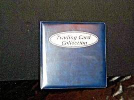 Blue Trading Card 3 Ring Collection Album AA19-1444 Vintage image 1