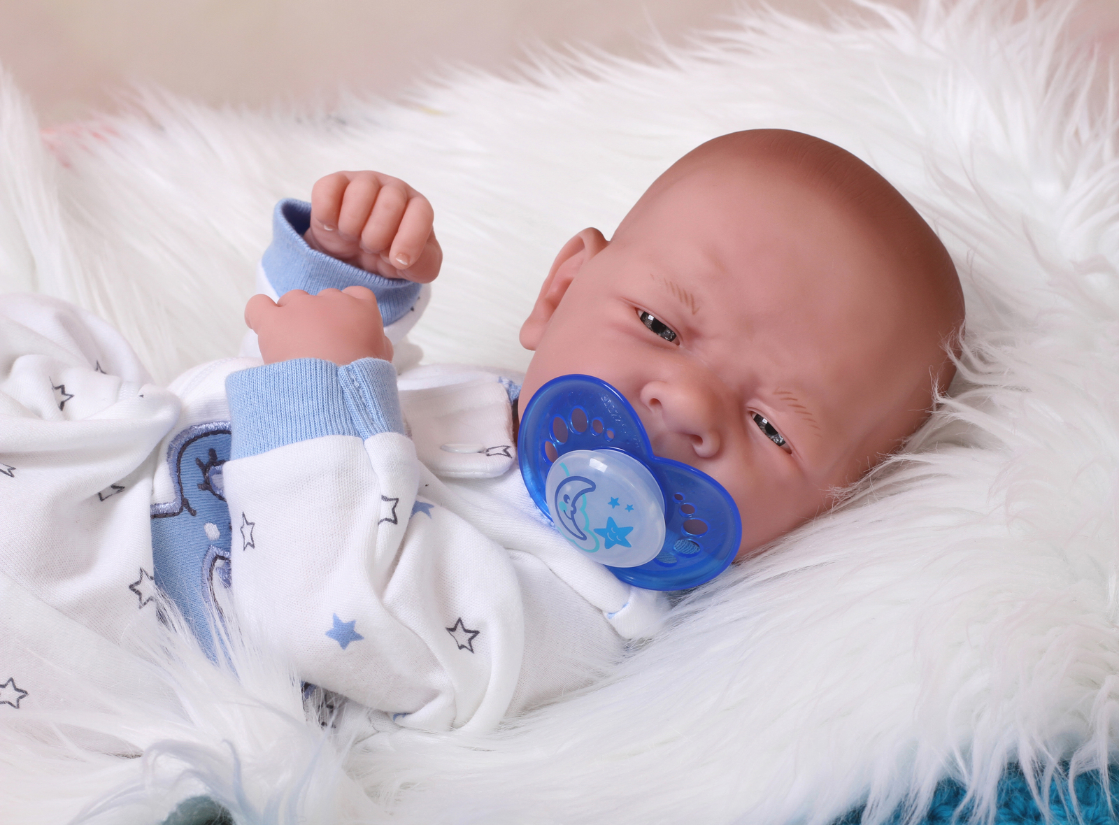Baby Soft Vinyl Boy Doll Preemie Life Like Reborn Anatomically Alive Washable for sale  USA