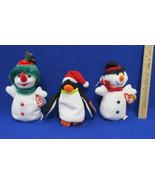 TY Beanie Babies Plush Original 1996 Snowball 1998 Zero 2000 Snowgirl Lo... - $9.89
