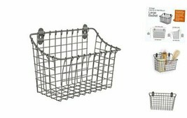Spectrum Diversified Vintage Large Cabinet & Wall-Mounted Basket for Sto... - $26.40