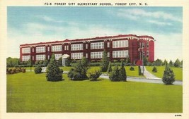FOREST CITY North Carolina NC  ELEMENTARY SCHOOL Rutherford Co ca1940's ... - $5.85