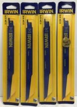 """(New) IRWIN 372956  9"""" 6TPI Reciprocating Saw Blades BI-Metal  Lot of 4 - $22.76"""