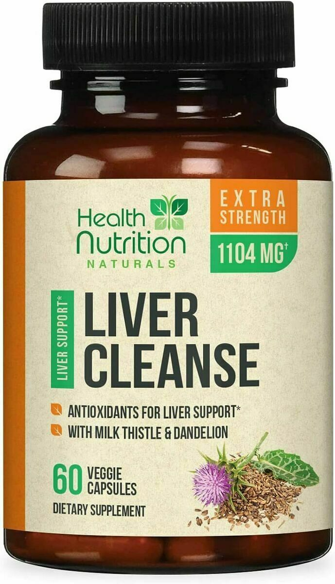 Natural Liver Cleanse Detox Regenerator 1166mg Milk Thistle Organic Vegetarian - $40.77 - $57.28