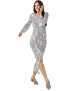 Haute Hippie Tribe Plus 2X 'Maya' V-Neck Maxi Dress Grey Python - $37.11