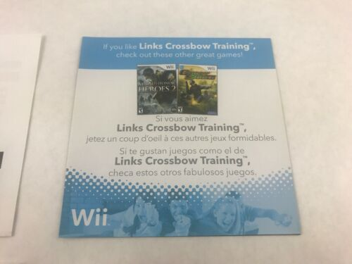 Link's Crossbow Training (Nintendo Wii, 2007) Disc & Instruction Booklet