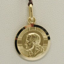 SOLID 18K YELLOW GOLD JESUS CHRIST REDEEMER 17 MM MEDAL, PENDANT, MADE IN ITALY image 2