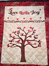 Christian Wall Hanging 12 x 14 Love and Joy - $45.00