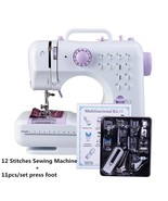 Mini Sewing Machine 505A 12 Stitches Replaceable 11pc Presser Foot Power... - $113.52+