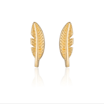 5 pairs of  Feather Golden Stud Earring Stud (NED210A) - $253,08 MXN