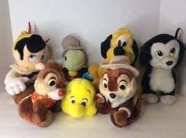 Vintage Lot of 7 Disneyland Disney World Plush Stuffed Pluto Figaro Pinocchio - $75.73