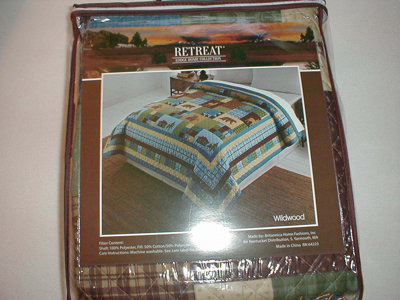 WILDWOOD - Lodge- Twin Size Quilt, Free USPS Priority Ship!