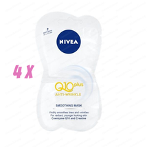 4X Nivea Q10 Smoothing Anti Wrinkle Mask For All Skin Types 4 x 7.5 ml - $9.46