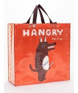 """Hangry Wolf Shoppers Tote New Re-Usable 15""""h x 16""""w x 6"""" Hungry Fashion - $13.95"""