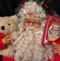 "18"" ROYAL ELFERIE Santa Claus Cinthia Joyce KURT ADLER BOOK ORNAMENT Ted... - $59.39"