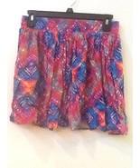 MINKPINK Multi-Color Printed Flirty Flared Pleated Mini Skirt M Medium - $14.95