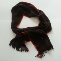 "POLO Ralph Lauren Men 100% Merino Wool Scarf Brown 72"" long 9"" wide - £36.63 GBP"