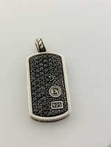 David Yurman Large Pavé Tag Pendant with Black Diamonds - $1,225.00