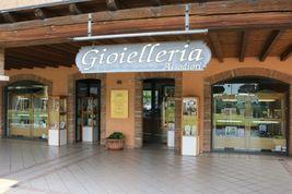 BRACCIALE ORO GIALLO 18K 750 CON PERLE BIANCHE, SFERE LAVORATE 5 MM, ITALY MADE image 8