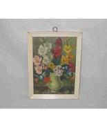 "Wonderful 5"" X 7"" Vintage FLOWERS And Vase Print Framed - $46.27"