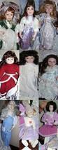 Mixed Lot of Vintage Doll Clothes & 9 Vintage Porcelain Dolls - $58.59