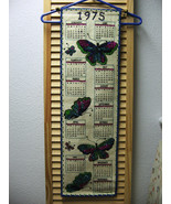 Vintage 1975 Felt Sequinned Beaded Butterfly Calendar - $23.38
