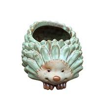 VORCOOL Hedgehog Flower Pot Animal Shaped Succulent Planter Pot Desktop ... - $18.12 CAD