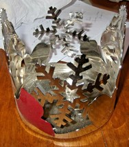 Yankee Candle Snowman & Snowflake Metal Jar Candle Holder - $9.49