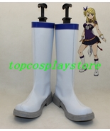 Fairy Tail Lucy Heartfilia White Cosplay Boots Shoes  - $65.00