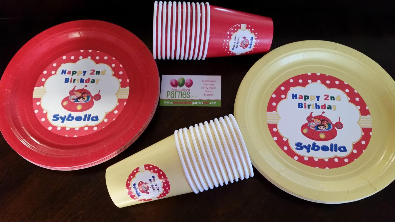 Little Einsteins plates & cups   Little Einstein birthday plates and cups image 3