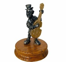 Circus Clown figurine carnival gift sculpture Ron Lee signed Pewter hobo... - $38.65
