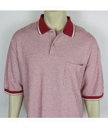 Pendleton Polo shirt Cotton shirt sleeve Golf casual Red Mens Size XL - $12.82